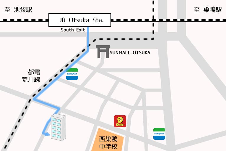 Tokyo International Exchange College Ikebukuro Area Map