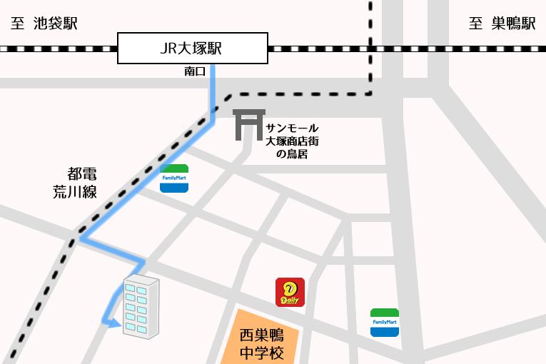 东京国际交流学院池袋校 周边地图