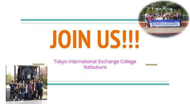 【admission for Tokyo International Exchange College Ikebukuro April,2020 intakes】