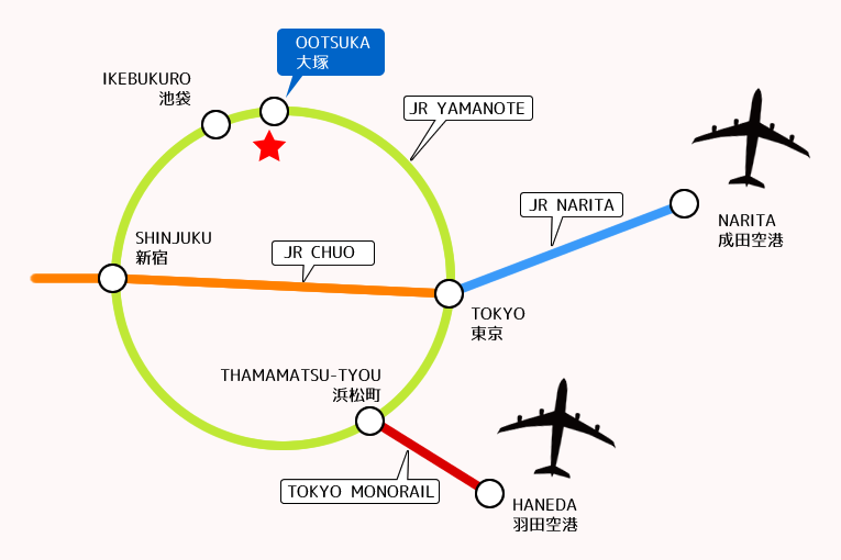 From Narita / Haneda Airports